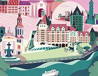 Quebec - Canada Map Illustration