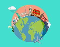 Travel Animations - Flat design