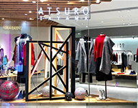 Sidefame . Atsuro Tayama 2018 X'mas window display