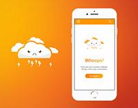 No Internet Connection Mobile App Screen UI Design