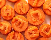 carrot font / морковкин шрифт