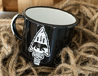 The Great Black Bear Enamel Mug & Pin