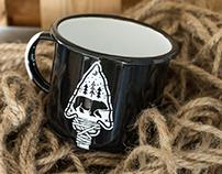 The Great Black Bear Enamel Mug & Pin