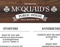 McQuaid's Pub - Logo & Menu Design