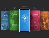 Free Samsung Galaxy Note8 App Screen Mockup PSD