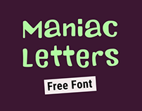 Maniac Letters - FREE FONT