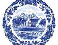 Delft Plate Carpet Design for Vergenoegd Low Wine Farm