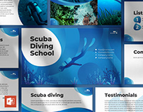 Diving School PowerPoint Presentation Template