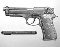 Beretta 92fs Dotwork