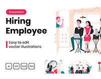 M298_ Job Interview Illustrations