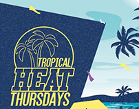 Tropical Heat Thursdays Flyer