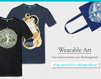 Wearable Art - From papercut to tee