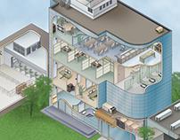 Cutaway View Illustrations of Buildings