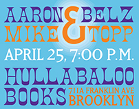 Event Poster: Aaron Belz and Mike Topp Poetry Reading