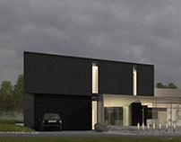 """Black White Crow"". Modern house"