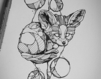 Tattoo design : Baby fennec
