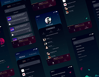 Spotify: Magical Night UI Design