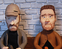 Sleaford Mods | Clay illustration