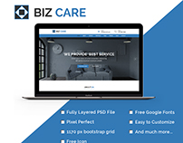 BIZ CARE - One Page Business Website PSD Template