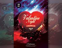 Valentine Night Flyer Template