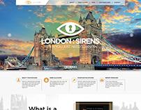www.londonsirens.co.uk Website Design