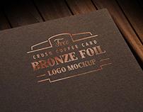 Free Coffee Card Foil Printed Logo Mockup PSD