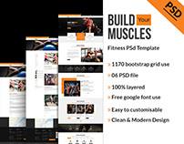 Fitness or Gym Psd Template