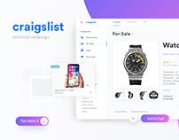 Craigslist - Redesign Concept