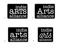 Logo concepts for Indie Arts Alliance