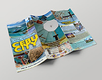 Cebu City barrel fold brochure