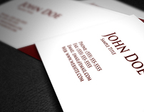Dieg Maroon Business Card