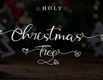 Holy Christmas Tree Handwritten Font