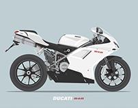 Ducati 848 illustration