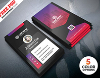 Vertical Business Card Designs PSD