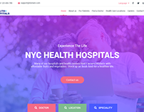 Health Care Homepage UI Design