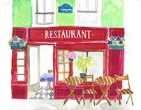 Illustrated mini-guide of Paris