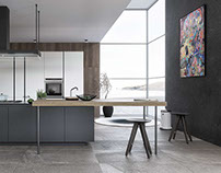 Contemporary Kitchen : 3D Visualisation / CGI