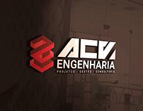Logotipo e Identidade Visual ACV Engenharia