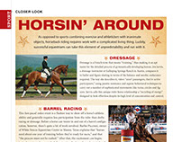 Magazine Layout: Horsin' Around