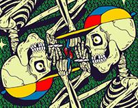 Skeleton haveng fun