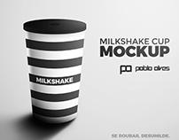 Mockup Milk Shake Cup