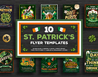 10 Saint Patricks Day Flyer Bundle