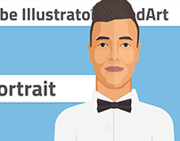 Create flat design portrait in Adobe Illustrator