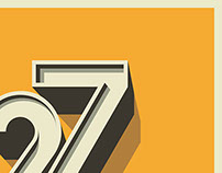 27 birthday typography