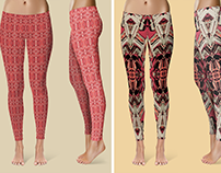Red Wave & Masks - Leggings