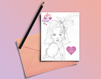 Shiv Illustration / Girl Birthday Card