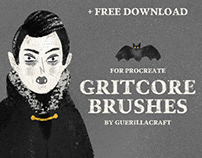 Gritcore Brushes for Procreate + FREE BRUSHES