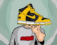 "Nike dunk high ""Wu-Tang"""