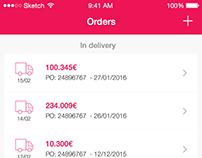 AGC - Orders screen (mobile)