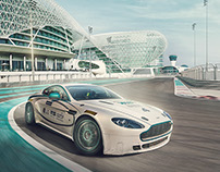 Aston Martin at Yas Island Marina Circuit_UAE